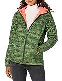 Amazon Essentials Chamarra Ligera con Capucha y Resistente al Agua. Down-Alternative-Outerwear-Coats, Camuflaje Verde, 38-40
