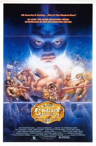 Grunt Wrestling Movie Poster 01 A3 Box Canvas Print
