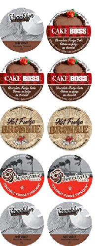 10 Cup Fabulous Chocolate & FUDGE Flavored Coffee Sampler! 4 Unique FUDGE Varieties!