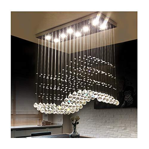 Lamparas de techo Luz Colgante de Lujo Moderna, Colgante de Cristal Decoración de la Sala de Estar de LED, Mesa de Comedor Dormitorio Escalera del Techo del Hotel,lamparas Colgante
