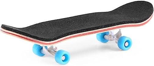 BISOZER Mini Finger Skateboard – Wooden Finger Board Ultimate Sport Training Props in..