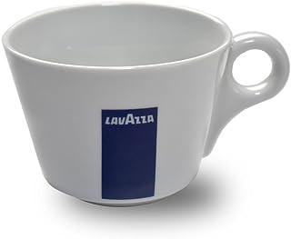 Tasses à Cappuccino Lavazza Blu Collection, Pack de 6, Tasse à Café, Porcelaine, Blanc, 16 cl