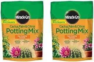 Miracle-Gro Cactus Palm and Citrus Potting Mix, 8-Quart (2 Pack)