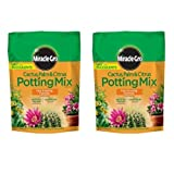 Miracle-Gro Cactus Palm and Citrus Potting Mix, 8-Quart (2 Pack)