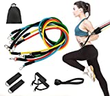 Tmtonmoon - Juego de bandas de resistencia para ejercicios, yoga, crossfit, pilates, equipo de gimnasio en casa para piernas y glúteos con anclaje de puerta, correa de tobillo, funda de transporte