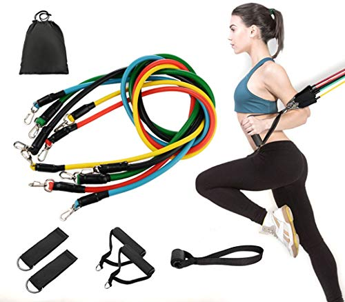 Tmtonmoon - Juego de bandas de resistencia para ejercicios, yoga, crossfit, pilates,...