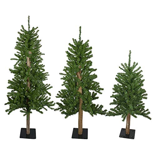 Northlight Set of 3 Alpine Artificial Christmas Trees 3', 4'and 5'- Unlit
