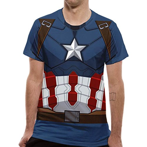 Cid Civil War-Captain America T-shirt voor heren