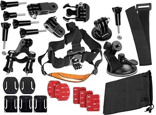 yayago Mehrteiliges Set für Panasonic Action Cam HX-A1 Kopfband Lenker Halterung Fahrrad