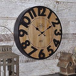 FirsTime & Co. Langton Wall Clock, 11, Antique Brown Black