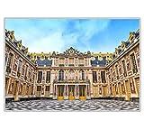 RB-QPIS Kits de pintura de diamante 5D DIY,'Palacio famoso de Versalles', decoración de pared, manualidades, pintura y regalos-30 × 45 CM