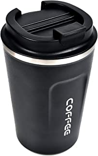 THETHO Travel Mug Leakproof Double Wall Coffee Cup Insulated Coffee Cup with Leakproof Lid,Vacuum Insulated Travel Mug Sta...