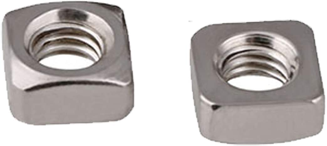 security 100pcs M6 Square Nut Metric Thread Silv Zinc Plated Coarse low-pricing