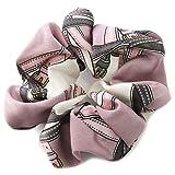[ジュエルボックス] JewelVOX ヘアアクセサリー スカーフ柄 デザイン シュシュ パープル 選択