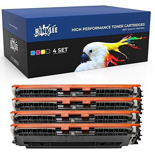 RINKLEE 130A CF350A CF351A CF2352A CF353A Tonerkartusche kompatibel für HP Color Laserjet Pro MFP M176n M177fw | hohe Reichweite 1300/1000 Seiten | Schwarz/Cyan/Magenta/Gelb, 4er-Pack
