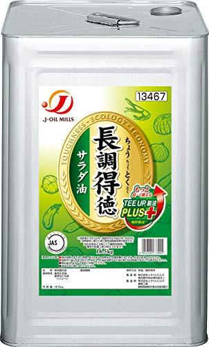 J-オイルミルズ 長調得徳 サラダ油 業務用 缶 16.5kg