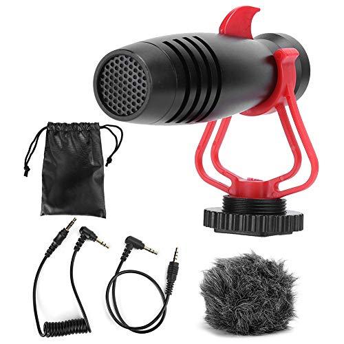 MS1 Micrófono capacitivo Electret para transmisión en vivo, micrófono portátil para grabación...