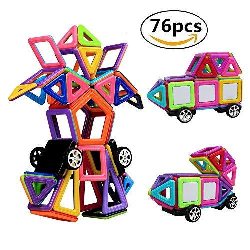 StillCool Magnetische Bausteine, 138 Teiliger Magnetic Bauklötze 3D Macaron Bausteine Spielzeug für Zuhause, Schulen, Kindertagesstätten