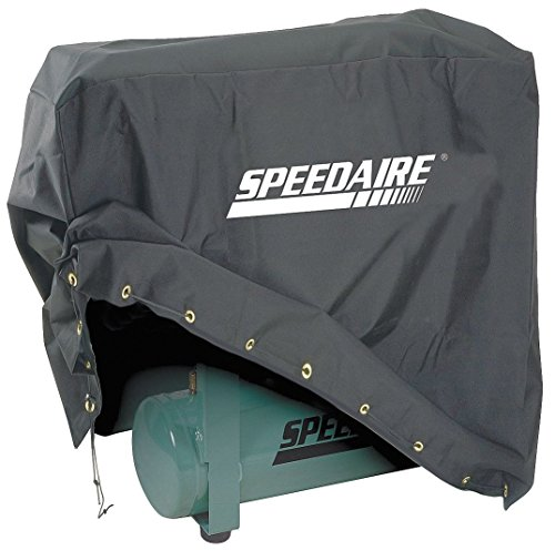 Speedaire Vinyl Backed Polyester Air Compressor Cover, Black - 20VD59