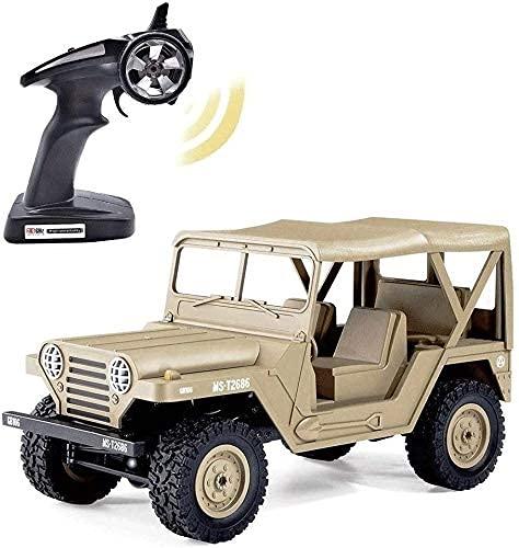 ZCYXQR RC Coche Militar Todoterreno 1/14 4WD RC Todoterreno RC e Camión de Escalada 2.4G 4X4 Radio Control Remoto Alta Velocidad Niños CRA (Regalo de cumpleaños Festivo)