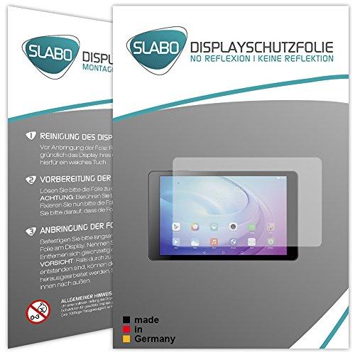 Slabo 2 x Bildschirmschutzfolie Huawei MediaPad T2 10.0 Pro Bildschirmschutz Schutzfolie Folie No Reflexion Keine Reflektion MATT - Entspiegelnd Made IN Germany