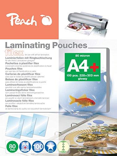 Peach S-PP580-21 lamineerfolie A4, 80 mic, glanzend, afneembaar, 100 stuks