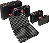 Kunststoffkoffer PP schwarz m.Schaumstoffeinlage B275xT230xH83mm