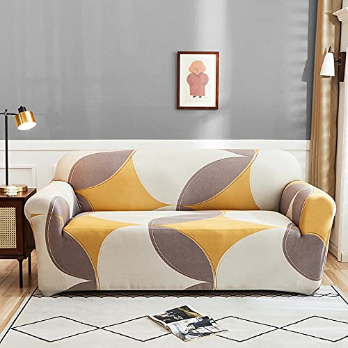 WXQY Floral print stretch sofa cover living room corner L-shaped armchair all-inclusive chaise longue sofa blanket A6 4 seater