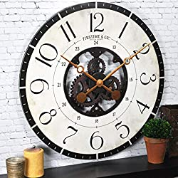 FirsTime & Co. Carlisle Gears Wall Clock, American Crafted, Multi-Color, 27 x 2 x 27, (31018)