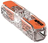Wago 221-2411 COMPACT-Verbindungsklemme für alle Leiterarten 2-Leiter-Klemme mit Betätigungshebeln transparent 60 Stück