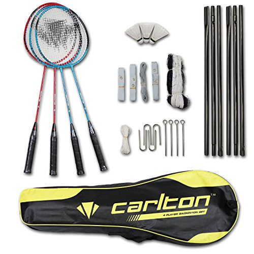 Carlton 4er Badminton Set Badmintonset Schläger Bälle Netz inkl. Tasche