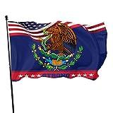 HGHGH Mexiko Flagge Logo 3x5 Fuß Flagge Außenflaggen 100% Polyester 3x5 Ft Gartendekoration Flagge