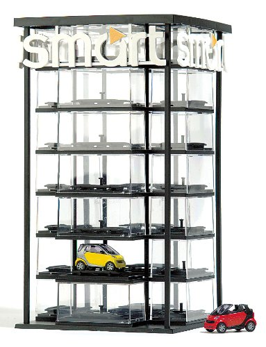 Busch 1001 - Torre Expositor para Coches Smart en Miniatura