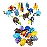 12 Pezzi di Uova di Dinosauro Trasformatore di Giocattoli Dino Egg per Bambini Festa di Detective di Compleanno, Caccia al Tesoro Giveaway Festa di San Valentino