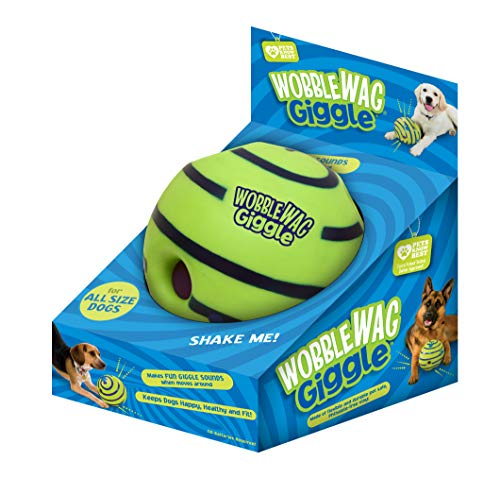 Wobble Wag Giggle Ball, Interactive Dog Toy,...