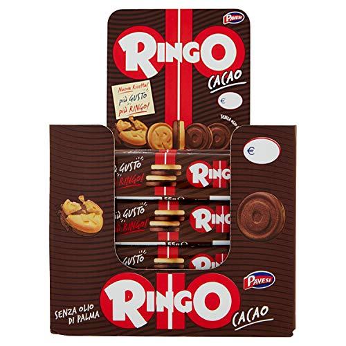 Pavesi Ringo Espositore Biscotti Snack al Cacao - Pacco da 24