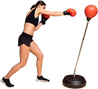 Protocol punching bag with stand | For Adults & Kids | Punching bag with stand plus boxing gloves | Adjustable height stand |Great for exercise and fitness fun for the entire family!