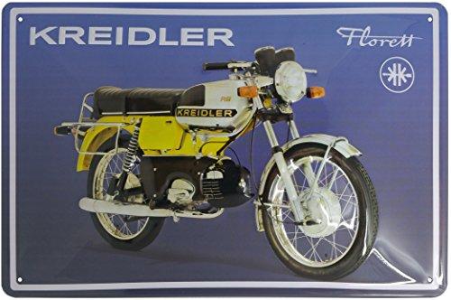 KREIDLER FLORETT, Motorrad Klassiker, hochwertig geprägtes Werbeschild, Blechschild, 30 x 20 cm