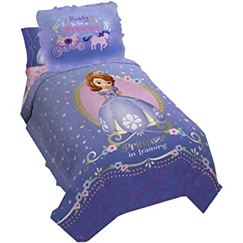 Amazon Com Princess Sofia Exclusive Designed Comfortable Girls Bedding Twin Comforter And Sham Set Purple Baby
