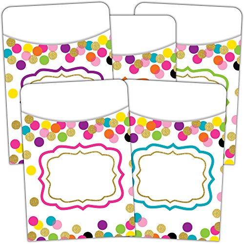 Confetti Library Pockets - Multi-Pack