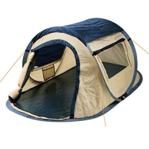 CampFeuer - 2-Person Pop-Up Tent, Quick-Tent, Blue