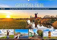 GREETSIEL-LIEBE (Wandkalender 2022 DIN A2 quer): Zauberhafte Momente rund um den maritimen Fischerort (Monatskalender, 14 Seiten )