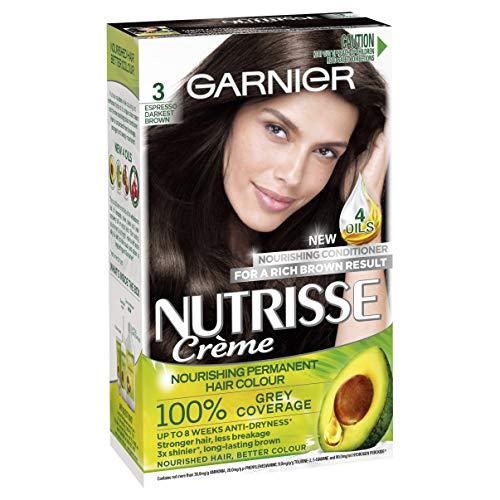 Garnier Nutrisse Permanent Hair Colour 3 Espresso Darkest Brown