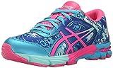 ASICS Gel-Noosa Tri 11 GS Running Shoe (Little Kid/Big Kid), Turquoise/Hot Pink/Asics Blue, 3 M US Little Kid