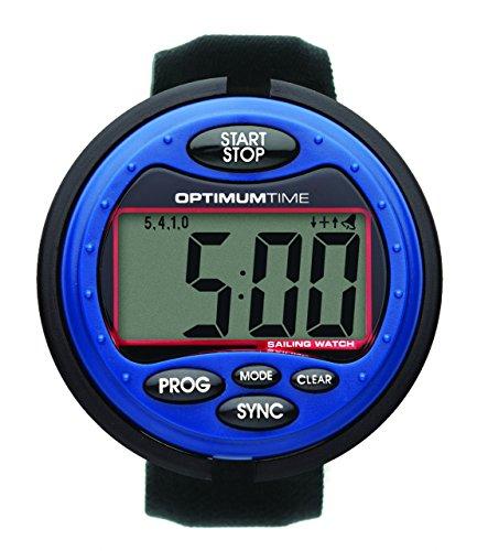 Optimum Time Series 3 Segelyacht- und Beibootuhr in blau - wasserfester Race Timer für Segelyacht und Beiboot