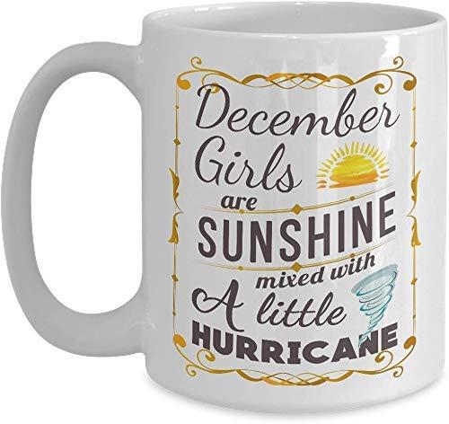 Sunshine Mixed Hurricane Dezember Becher - White Coffee Mug Dezember Mädchen Geburtstagsgeschenke für Weihnachten Thanksgiving Festival Freunde Geschenk Geschenk