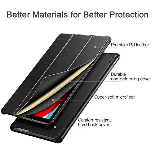 ESR Hülle kompatibel mit Huawei MediaPad M5 / M5 Pro Hülle 10,8 Zoll - Ultra dünnes Yippee Trifold Smart Case mit Auto Schlaf-/Wachfunktion und Standfunktion - Schutzhülle mit PC Rückseite - Schwarz - 2