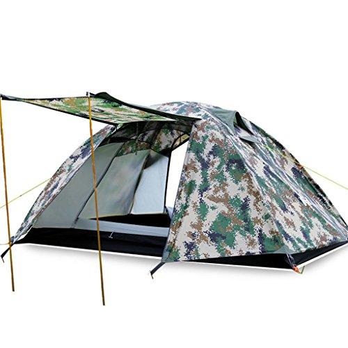 En plein air doubles superposés pluie tente saisons modèles de tente multijoueur plage de camping d'équipement de terrain ultra-léger