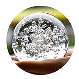 Cristal Vidrio Mármoles agua Fuente burbuja Bola Feng Shui Decorativo Cristal Bolas Casa Interior agua Fuente figuritas (60mm)