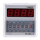 LIPENLI Tiempo de retardo de retransmisión, 12V / 24V / 380V programable Tiempo de retardo del relé Temporizador 0.1S-99H 8-Pin DH48S-S (# 3)